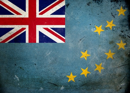 Flag of the UK on old and vintage grunge texture photo