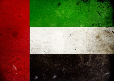 Flag of the United Arab Emirates on old and vintage grunge texture photo