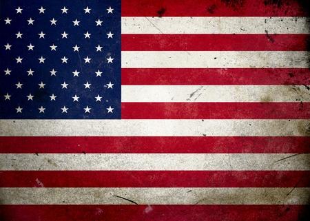 constitucion: Bandera de los EE.UU. en la textura del grunge de edad y de la vendimia