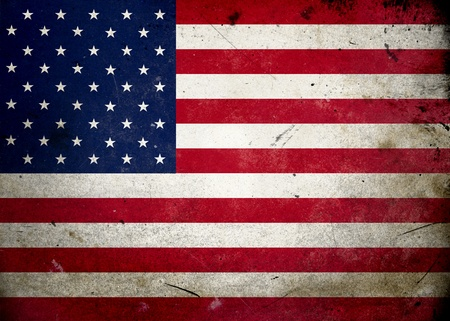 Flag of the USA on old and vintage grunge texture photo