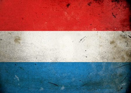 Flag of Luxembourg on old and vintage grunge texture photo