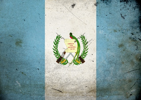 guatemala: The flag of Guatemala on old and vintage grunge texture