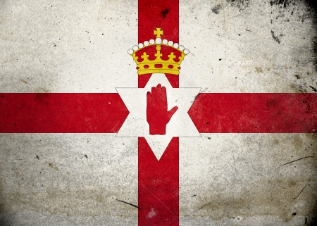 Flag of Northern Ireland on old and vintage grunge texture photo