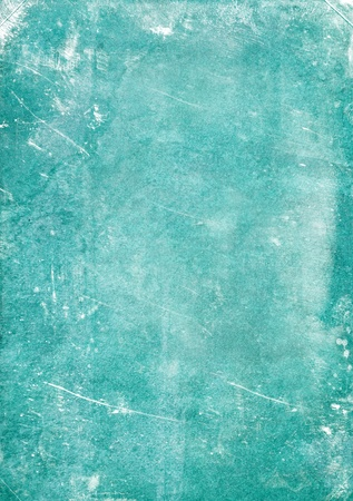 and turquoise: Vintage paper background with grunge and decorative details