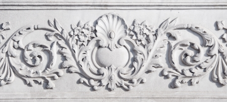 Close up of a marble carving in late Ottoman Turkish style photo