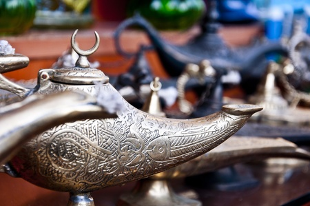 Oil lamps from Middle East. photo