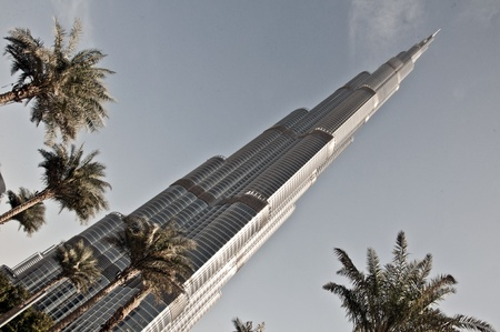 An amazing piece of architecture, the tallest building in the world, Burj Khalifa and the surroundings in Dubai, UAE Stock Photo - 12904084