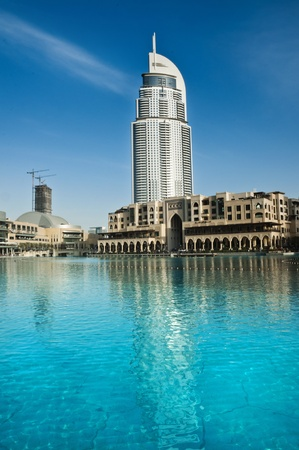 Dubai, UAE - February 23  A view of The Address Hotel