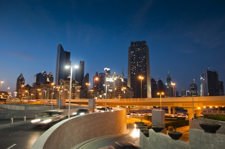 Dubai City Night Scene, 23 FEB 2012 photo