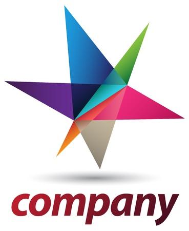 estrellas moradas: Un logotipo muy moderno y futurista de dise�o Vectores