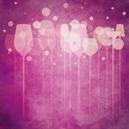 A funky illustration of various alcohol drink glasses, perfect for menu, poster and cover design etc.