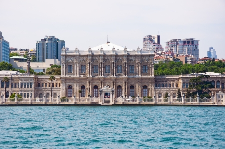 historical building: Dolmabahce Palace, an old Ottoman palace located in between Besiktas and Beyoglu by the Bosphorus
