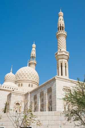 A traditional Arabian style mosque located in Jumeira, Dubai, UAE photo