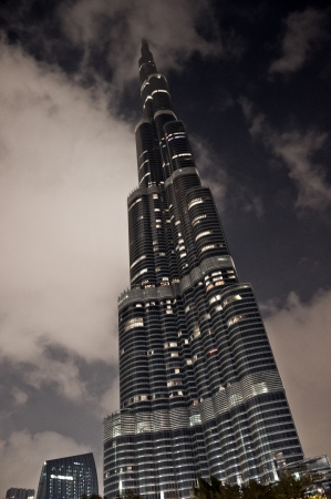 An amazing piece of architecture, the tallest building in the world, Burj Khalifa and the surroundings in Dubai, UAE