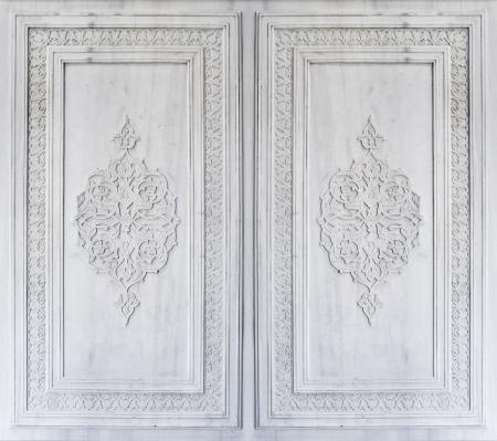 osmanisch: Sch�ne osmanisch-t�rkischen Ornamenten auf Marmor gemei�elt