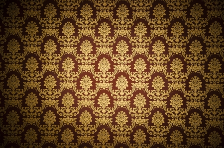 Luxury concept, real wallpaper background with floral damask designs Stock Photo - 14205545