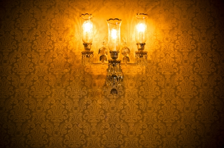 Enlightened damask wall Stock Photo - 25328364