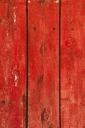 Grunge red wooden panels photo
