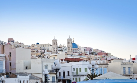 A view from the beautiful Greek island, Syros or Ermoupoli