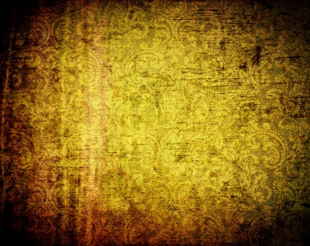 Beautiful grunge background with light effect and floral designs photo