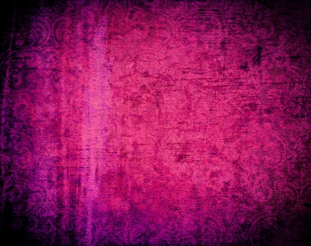 magenta decor: Beautiful grunge background with light effect and floral designs