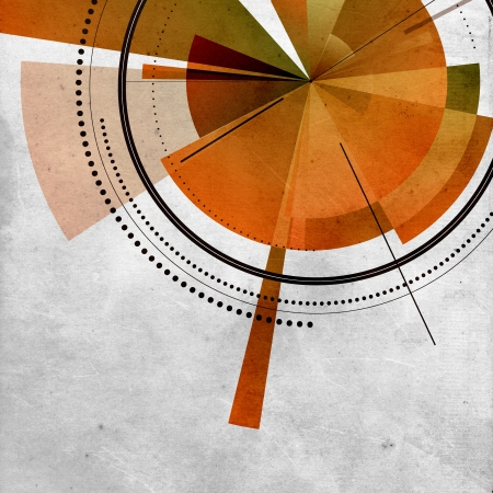 Old paper background with circular abstract design Stock Photo - 15822105
