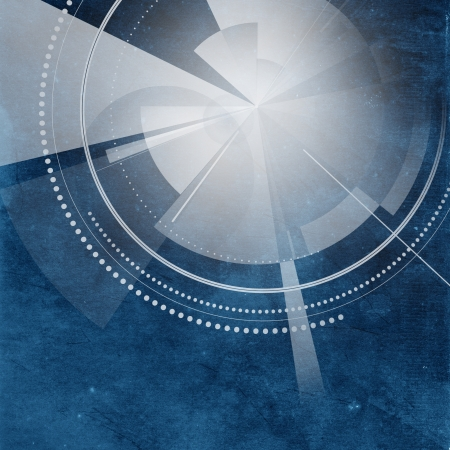 Old paper background with circular abstract design photo