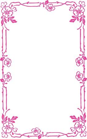 bordure floral: Beau cadre d�coratif floral, �l�ment Art Nouveau