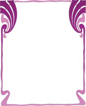 Beautiful decorative floral frame, art nouveau design element Vector