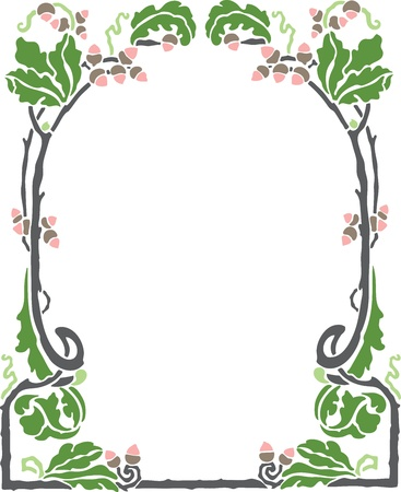 Beautiful decorative floral frame, art nouveau design element Stock Vector - 15859718