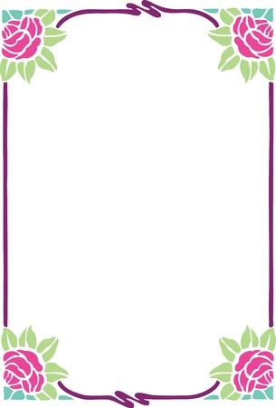 Beautiful decorative floral frame, art nouveau design element Stock Vector - 15859707