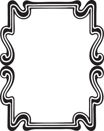 Beautiful decorative floral frame, art nouveau design element Stock Vector - 15859708