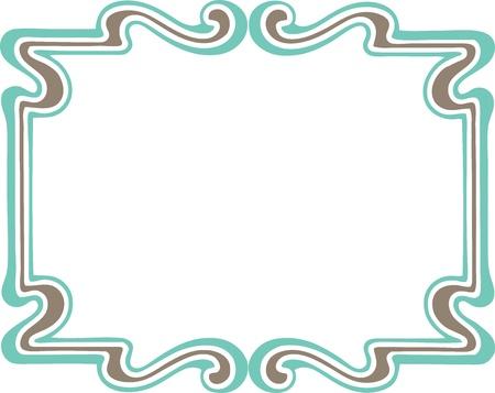 Beautiful decorative floral frame, art nouveau design element
