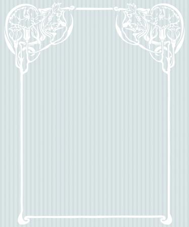 Beautiful decorative floral frame, art nouveau design element Stock Vector - 16104286