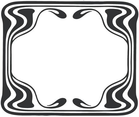 vine art: Beautiful decorative floral frame, art nouveau design element
