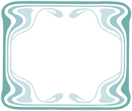 Beautiful decorative floral frame, art nouveau design element Stock Vector - 16104273