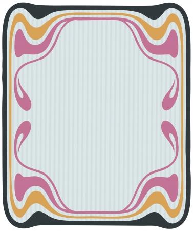 Beautiful decorative floral frame, art nouveau design element Stock Vector - 16104275