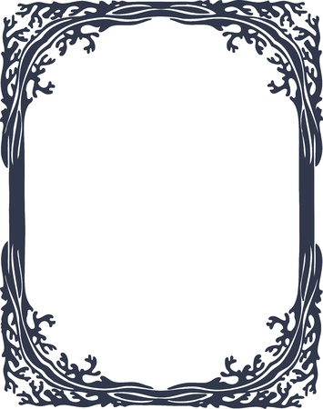Beautiful decorative floral frame, art nouveau design element Stock Vector - 16104289