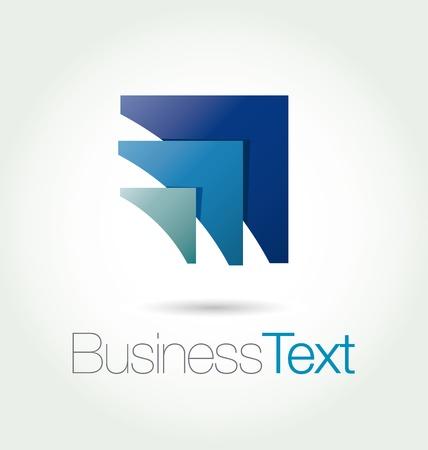 logotipo abstracto: Dise�o moderno y estilizado emblema de la letra A