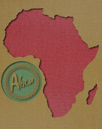 africa antique: Afican Continent Paper Art Stock Photo