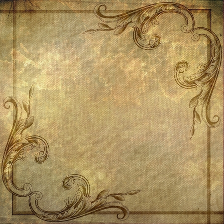 victorian scroll: Beautiful grunge texture background image for your designs