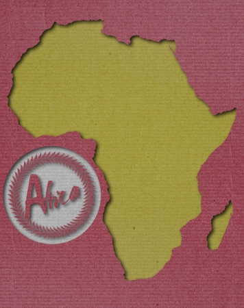 African Continent Paper Art Stock Photo - 16725487
