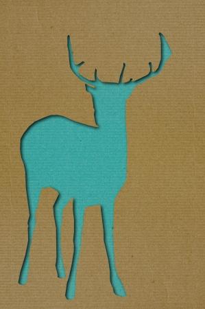 burning paper: Deer cutting art