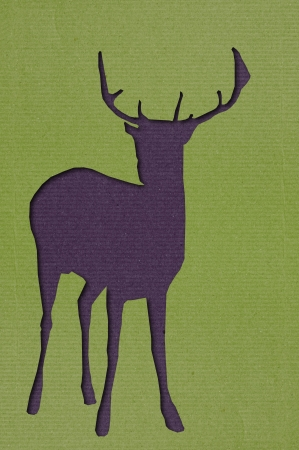 Deer cutting art photo