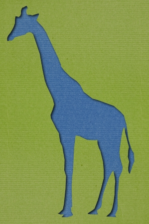 Giraffe Cutting Paper Art photo
