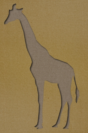 Art Girafe papier de coupe photo