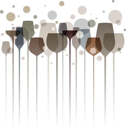 venue: Una bella composizione di bicchieri di alcol in tonalit� di grigio e marrone