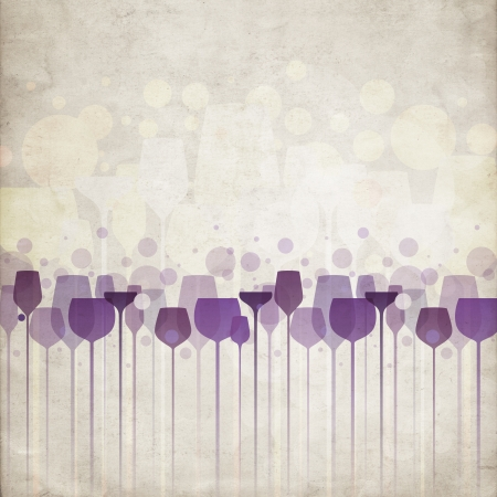 A beautiful composition of alcohol drink glasses on old paper background Stock Photo - 16946294