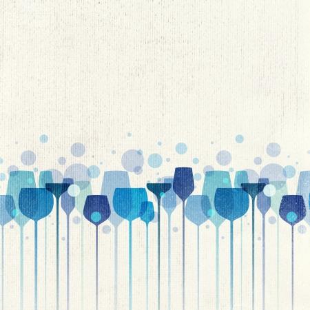 compositions: Una bella composizione di bicchieri di alcol su sfondo vecchia carta Archivio Fotografico