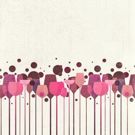 saúde: Uma bela composição de álcool bebida óculos fundo de papel velho Banco de Imagens